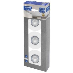 Ledvalgusti kompl AIRAM 3*5W 450lm süvis IP20 4126214