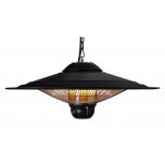 Infrapuna soojuskiirgur VELTRON UFO rippuv 2500W 220-240V puldiga IP55 must