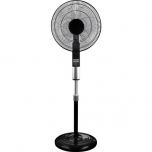 Põrandaventilaator SOLIGHT 55W d-40cm 6-kiirust puldiga must+kingitus