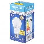 LED pirn radariga Airam 10W E27 230V 806lm 2700K