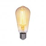 LED pirn Airam Antique 5W E27 230V 380lm 2200K dimmerd toon/klaas