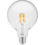 LED pirn GTV Filament 230V 8W E27 G95 3000K