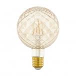 LED pirn EGLO G95 220-240V 2W E27 200lm 2200K dimmerd krobe/toonit