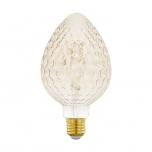 LED pirn EGLO G95-piklik 220-240V 2W E27 200lm 2200K dimmerd krobe/toonit