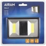 LEDvalgusti lülitiga AIRAM Wally 2x3W 50lm 4xAAA patarei toide