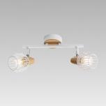 Kohtvalgusti PREZENT Tameta 230V 2*40W E14 met/puit/valge