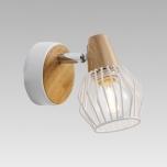 Kohtvalgusti PREZENT Tameta 230V 40W E14 met/puit/valge